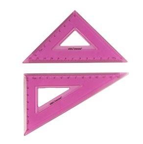 Sada ohebných trojúhelníků 2ks -  růžová