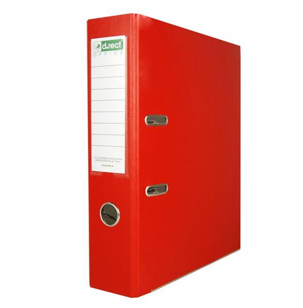 Office Pákový pořadač PVC 7,5cm - červený