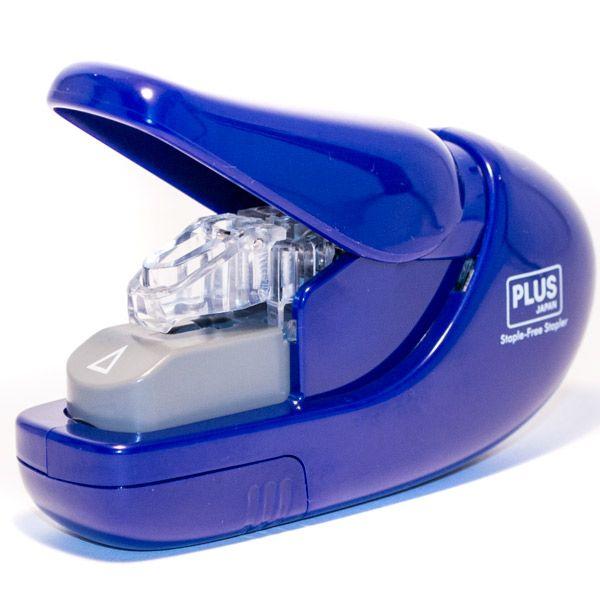 DELI Sešívačka Staple-Free SL 106-AB - modrá
