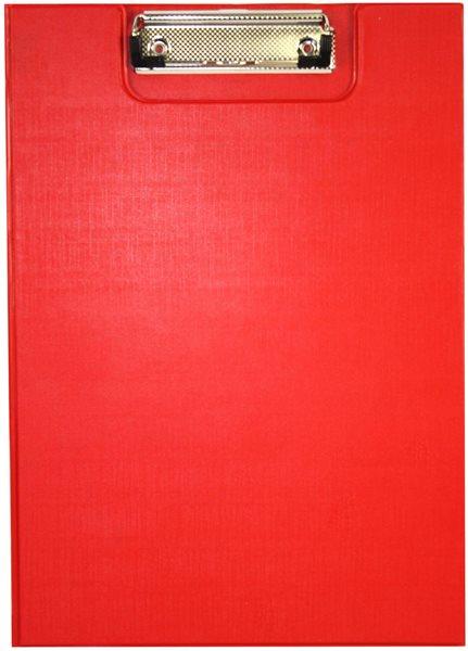 Office Psací podložka s klipem A5 - červená