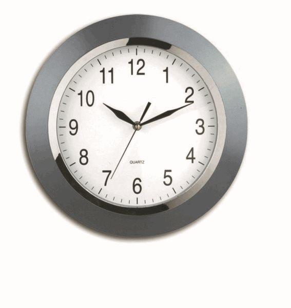 Nástěnné analogové hodiny 33 cm Berlín - stříbrná