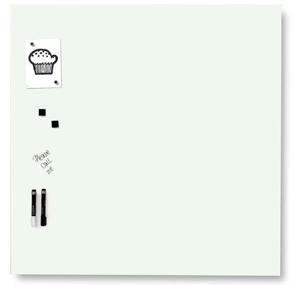 NAGA skleněná magnetická tabule 100 x 100 cm, bílá, Doprava zdarma