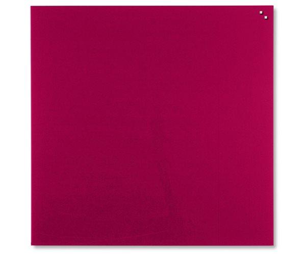 NAGA skleněná magnetická tabule 100 x 100, červená, Doprava zdarma