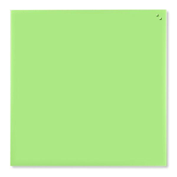 NAGA skleněná magnetická tabule 100 x 100, sv. zelená, Doprava zdarma