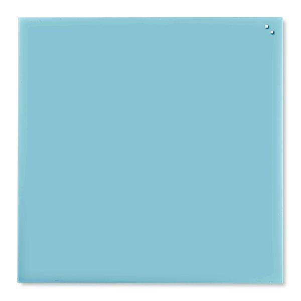 NAGA skleněná magnetická tabule 100 x 100, tyrkysová, Doprava zdarma