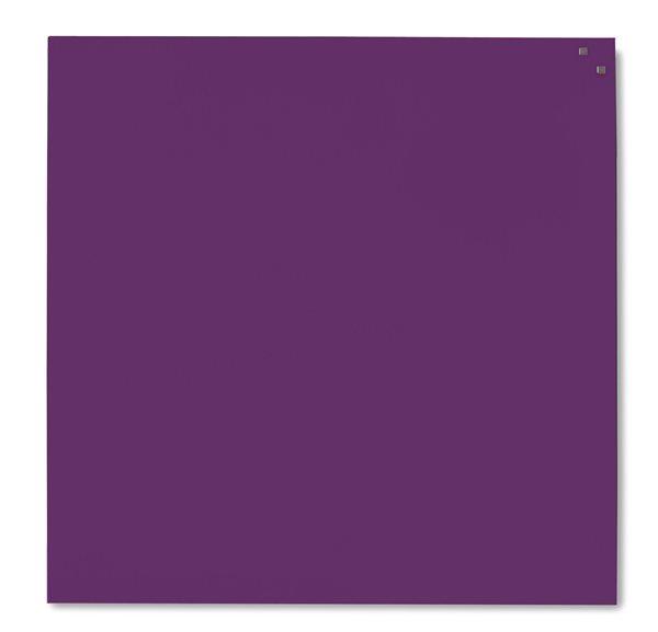 NAGA skleněná magnetická tabule 100 x 100, tm. fialová, Doprava zdarma