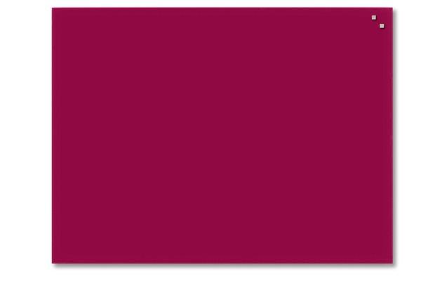 NAGA skleněná magnetická tabule 60 x 80 cm, červená, Doprava zdarma
