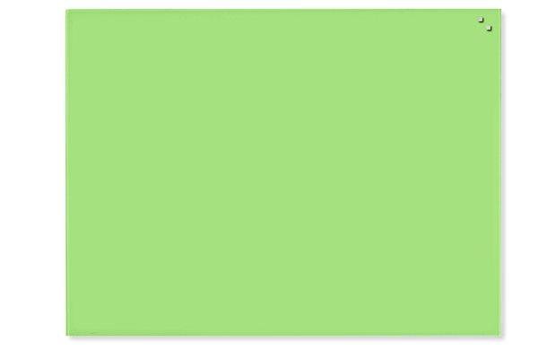 NAGA skleněná magnetická tabule 60 x 80 cm, sv. zelená, Doprava zdarma
