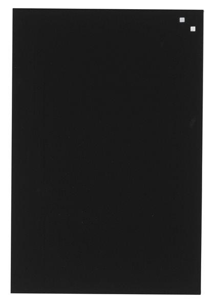 NAGA skleněná magnetická tabule 40 x 60 cm, černá