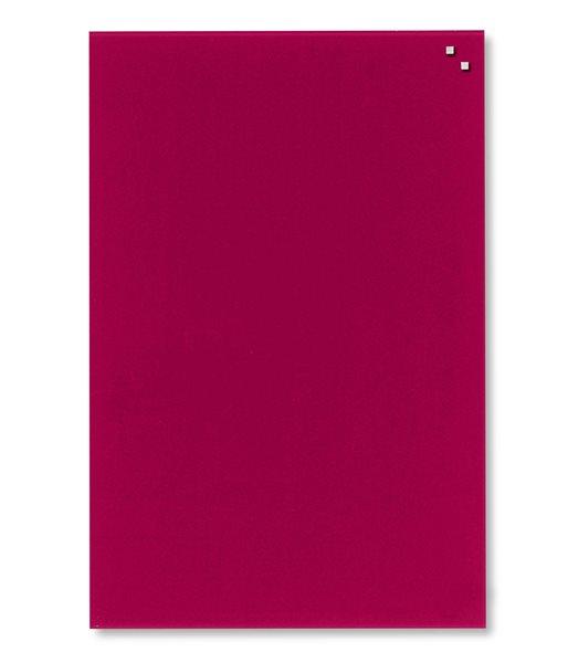 NAGA skleněná magnetická tabule 40 x 60 cm, červená