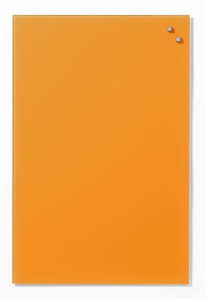 NAGA skleněná magnetická tabule 40 x 60 cm, oranžová