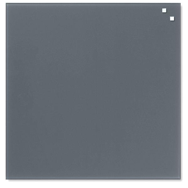 NAGA skleněná magnetická tabule 45 x 45 cm, šedá