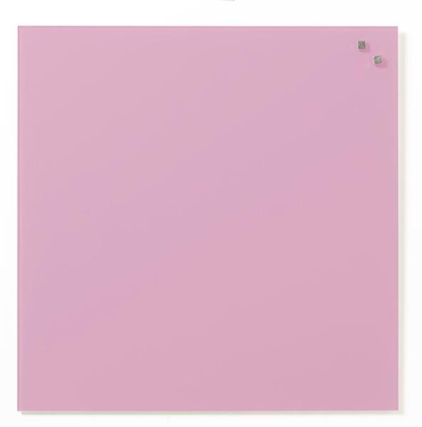 NAGA skleněná magnetická tabule 45 x 45cm, sv. růžová