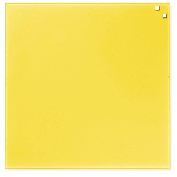 NAGA skleněná magnetická tabule 45 x 45 cm, žlutá
