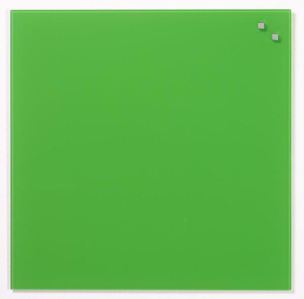 NAGA skleněná magnetická tabule 45 x 45 cm, zelená