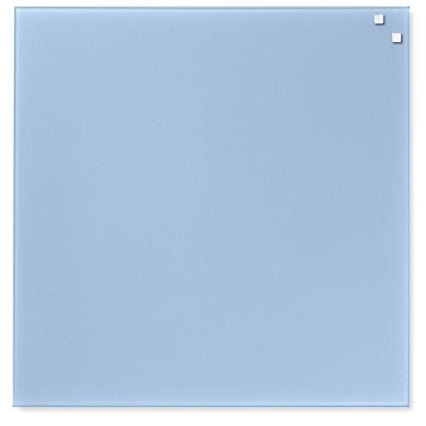 NAGA skleněná magnetická tabule 45 x 45 cm, sv. modrá