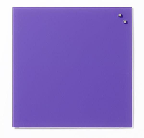 NAGA skleněná magnetická tabule 45 x 45 cm, fialová