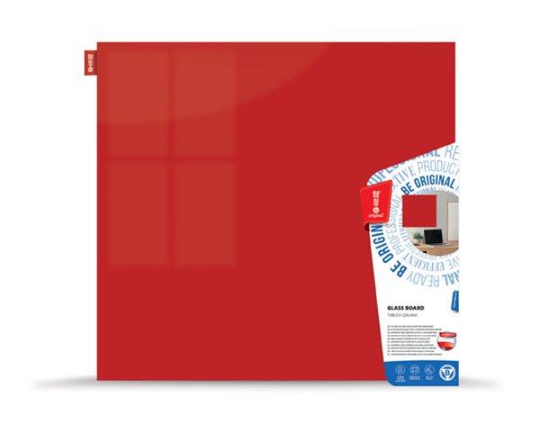 Memoboards Skleněná magnetická tabule 45 × 45 cm, červená