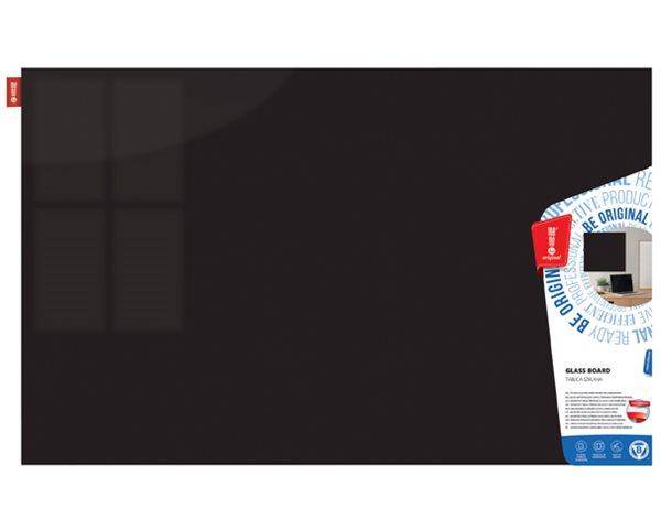 Memoboards Skleněná magnetická tabule 60 × 40 cm, černá