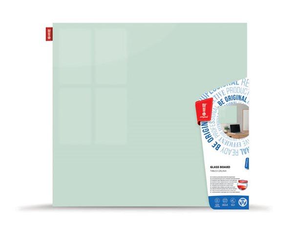 Memoboards Skleněná magnetická tabule 100 × 100 cm, bílá