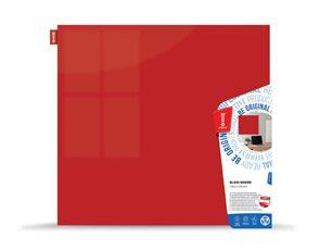 Memoboards Skleněná magnetická tabule 100 × 100 cm, červená