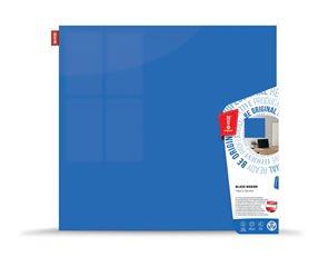 Memoboards Skleněná magnetická tabule 100 × 100 cm, modrá