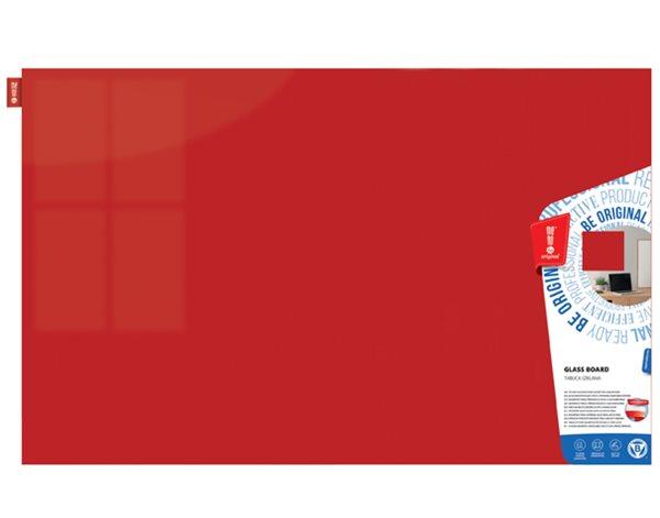 Memoboards Skleněná magnetická tabule 100 × 200 cm, červená