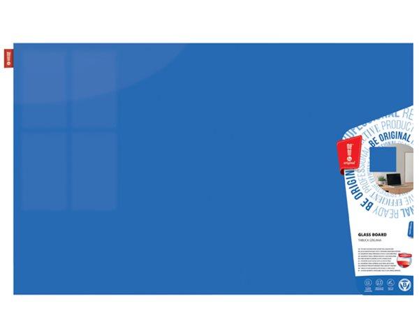 Memoboards Skleněná magnetická tabule 100 × 200 cm, modrá
