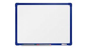 boardOK Bílá magnetická tabule s emailovým povrchem 60 × 45 cm, modrý rám
