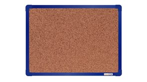 boardOK Korková tabule s hliníkovým rámem 60 × 45 cm, modrý rám