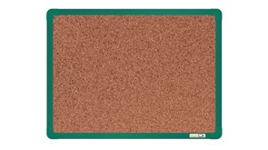 boardOK Korková tabule s hliníkovým rámem 60 × 45 cm, zelený rám