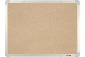 BoardOK Tabule s textilním povrchem 60 × 45 cm, stříbrný rám