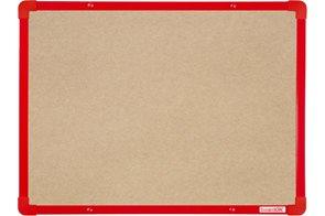 BoardOK Tabule s textilním povrchem 60 × 45 cm, červený rám