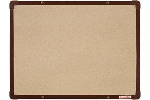 BoardOK Tabule s textilním povrchem 60 × 45 cm, hnědý rám