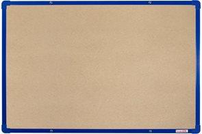 BoardOK Tabule s textilním povrchem 60 × 90 cm, modrý rám