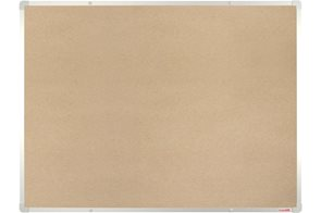 BoardOK Tabule s textilním povrchem 120 × 90 cm, stříbrný rám