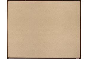 BoardOK Tabule s textilním povrchem 120 × 90 cm, hnědý rám