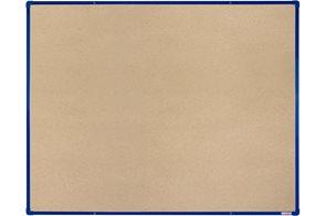 BoardOK Tabule s textilním povrchem 150 × 120 cm, modrý rám