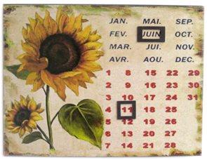 Plechový kalendář Slunečnice