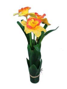 Umělá kytice Narcis s trávou