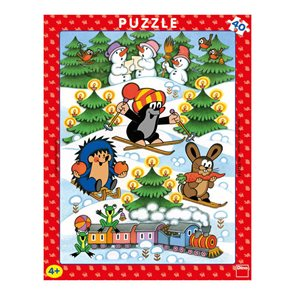 Puzzle deskové - Krtek na sněhu