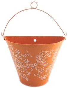 Plechový kyblík oranžový