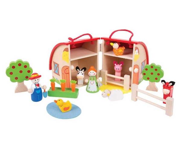 Dřevěný hrací set Farma