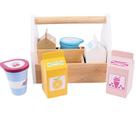 Dřevěné Potraviny v přenosné krabičce