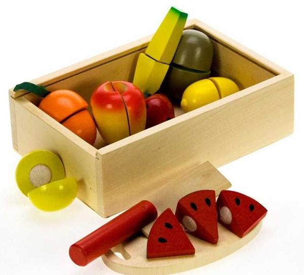 Dřevěná přepravka ovoce