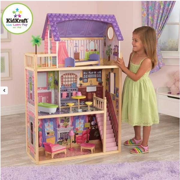 Dřevěný domeček pro panenky Kayla, Doprava zdarma