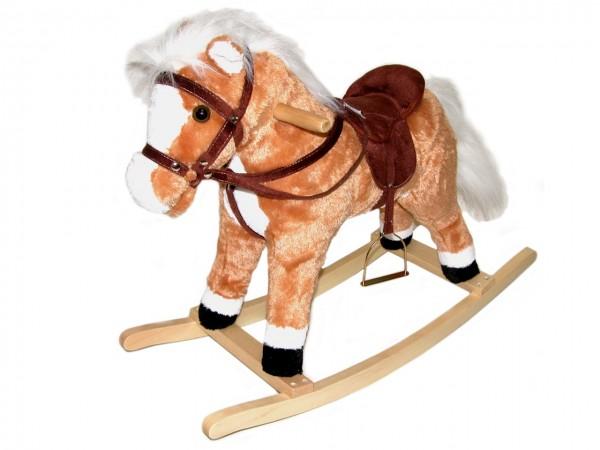 Houpací kůň plyšový 60 cm na baterie se zvukem