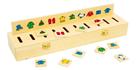 Dřevěná motorická hračka - vkládačka třídění