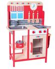 Dětská kuchyňka, dřevěná červená