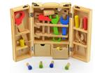 Dřevěné nářadí v kufříku 30 ks